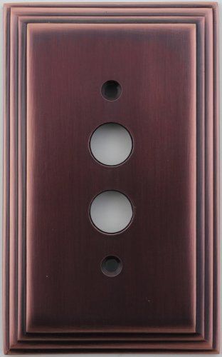 Classic Accents Deco Antique Copper 1 Gang Push Button Light Switch Wall Plate