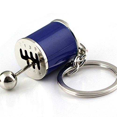 Tuqiang® 1PC Parkett Farbe Schlüsselanhänger Schlüssel Anhänger (blau)