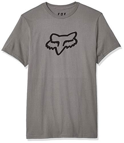 Fox Men's Legacy Head Short Sleeve Basic T-Shirt, Heather Graphite, X-Large