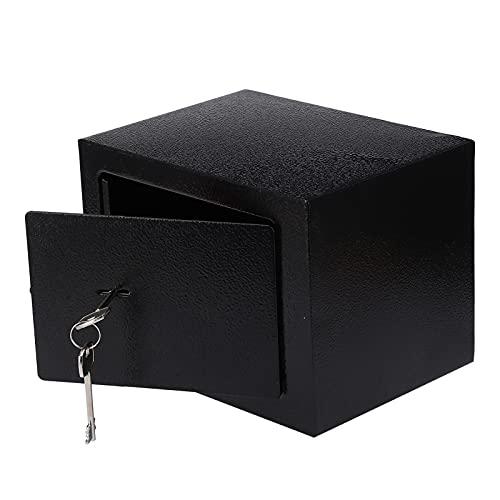 Caja de Seguridad, Caja de Almacenamiento Segura Caja de Bloqueo de Seguridad Caja de Almacenamiento de Bloqueo de Doble Broca 4.6L con 3 Llaves para Documentos de joyería en Efectivo de la