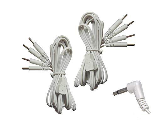 Paar TENS Elektroden-Verbindungsleitungen mit 4-poligem Steckverbinder