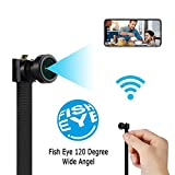 Spy Camera WiFi Wireless Mini Hidden Camera HD 4K Cam Small Nanny Camera 120 Degree Wide-Angle Lens Security Camera for Home and Outdoor (with Cell Phone APP)