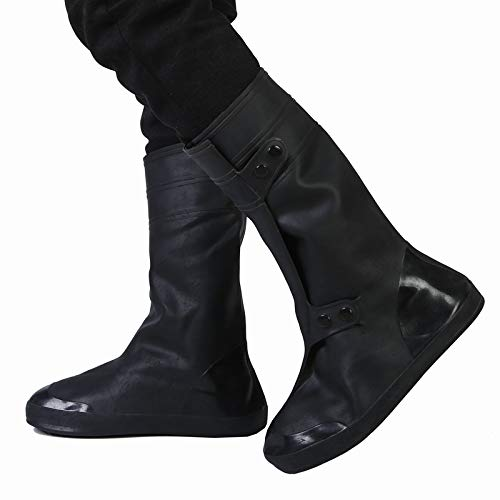 Walker Valentin Chanclos IBHT Alta del Tubo de Prueba de Lluvia Snowproof tamaño Adulto de la Cubierta del Zapato: XXL Black