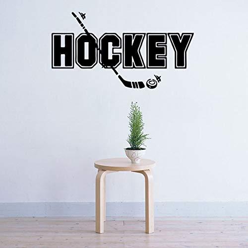 Wandtattoo Eishockey Wandaufkleber DIY Wandsticker Acryl Wandbild für Wohnzimmer Schlafzimmer Babyzimmer Kinderzimmer Wand Deko Aufkleber