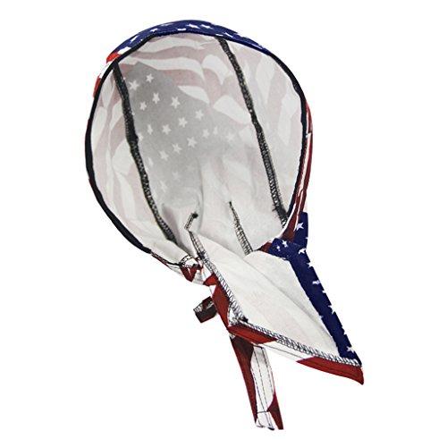 RUIXIB Bandana Cap Sports Kopfbedeckung Drucken Piratenmütze Street Dance Mütze Unisex Outdoor Fahrrad Kopftuch Atmungsaktive Baumwolle Kopftuch reiten für Herren Damen - 5