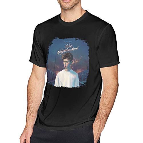 Herren Kurzarm T-Shirt Troye Sivan Blue Neighborhood Home Men's Short Sleeve T-Shirt Black
