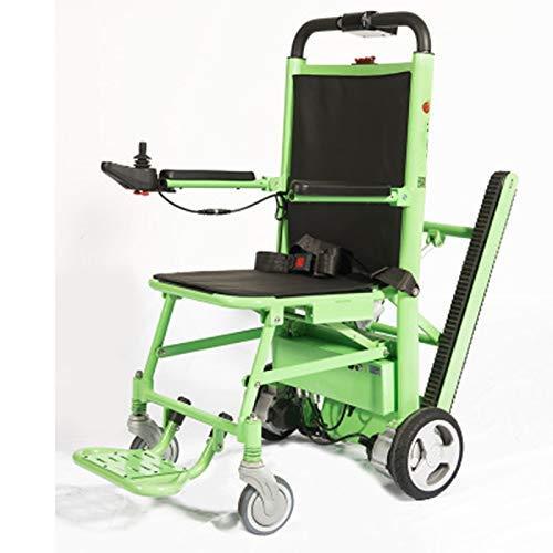 DONG Premium-Folding Elektro-Rollstuhl, Evakuierung Treppen Stuhl, Nottransportdienst Manual Track Treppen Rollstuhl-Lift - Tragkraft: 440 lb. Grün