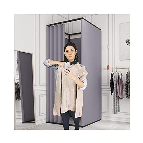 SHIJINHAO Vestuario Portátil, Protección De La Privacidad En El Probador De La Tienda De Ropa, Portátil Usado para Tienda De Especialidades, Centro Comercial (Color : Gray, Size : 85x85x200cm)