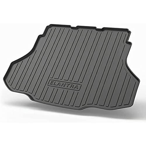 ZHFF Auto Tappetini Bagagliaio, per Hyundai Elantra(Non-Flagship) 2021 Trunk Boot Mats Protezione Tappetini Floor Carpets Pad, Car con LogoEsclusiva Accessori
