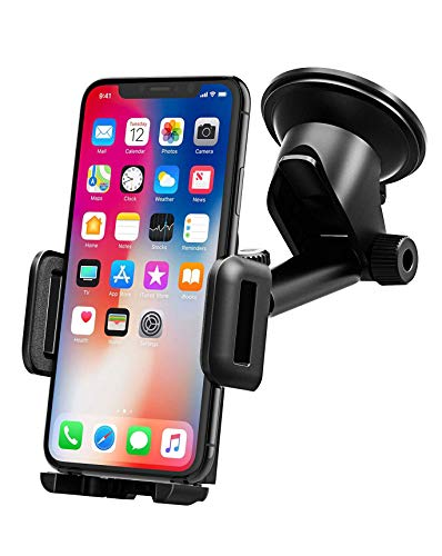 Mpow Support Téléphone Voiture Support Tableau de Bord Téléphone Support Voiture Téléphone GPS Pare-Brise Support Voiture pour Smartphone Rotation 360° Bras...
