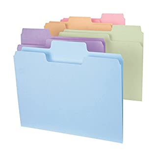 Smead SuperTab File Folder, Oversized 1/3-Cut Tab, Letter Size, Assorted Colors, 24 per Pack (11927) (B001L1RDYI) | Amazon price tracker / tracking, Amazon price history charts, Amazon price watches, Amazon price drop alerts