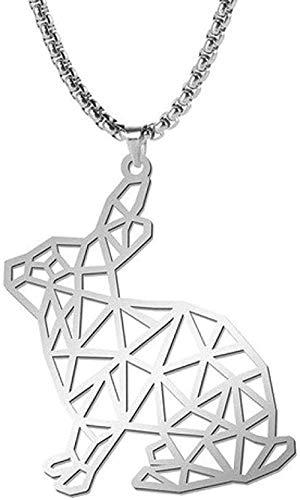 Zaaqio Collar Oso Lobo Tigre Leopardo Perro Conejo Animal Colgante Collar Acero Inoxidable Caja Cadena Hombres Hombres Collares joyería