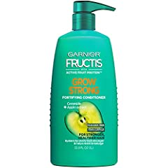 Garnier Fructis Shampoo and Conditioner fortifies hair as it grows to bring back life to every inch so that hair is stronger, healthier and shinier Garnier Fructis Grow Strong Conditioner is infused with a formula with Apple Extract and Ceramide Garn...