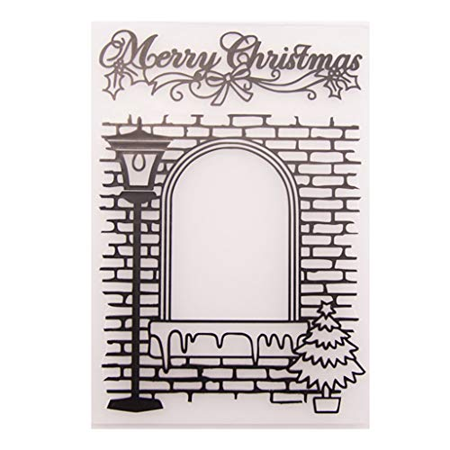 Plastic Embossing Folder Stencils Template Molds DIY Scrapbooking Paper Photo Album Card Decoration Merry Christmas