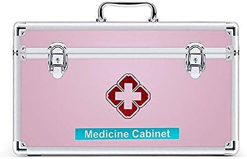 NYDZDM Boîte de Premiers Secours avec Plateau et poignée Amovibles, Boîte de Rangement médicale Boîte de Rangement familiale (Taille   L)