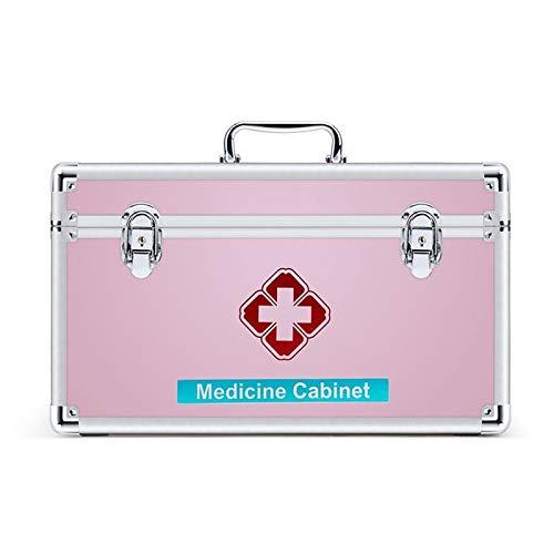 LICCC Botiquín de Primeros Primeros Auxilios Caja con Bandeja y Mango Desmontable, Caso de Almacenamiento de Equipo de Emergencia médica Organizador Caja de Almacenamiento Familia (Size : M)