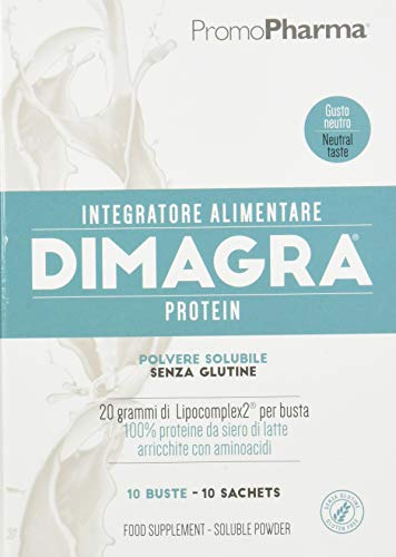 Dimagra Protein Neutral Sachets Integratore Alimentare - 10 buste, 220 gr