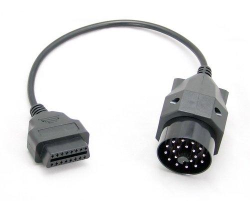 Goliton S-EOLF-BMW20P Adaptador de Cable OBD OBD2 16 Pin BMW 20Pin Negro - Adaptador para Cable (OBD OBD2 16 Pin, BMW 20Pin, Male Connector/Female Connector, Negro)