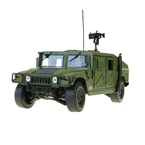 LINGLING-JOUETS 01:18 Battlefield proportionnelle Hors Route Simulation métal Véhicule Voiture Jouet en Alliage Militaire modèle de Voiture Fini Cadeau Ornements (Color : Green)