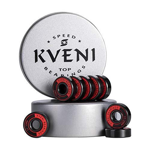Premium Skateboard bearings, Ceramic ball 608-2rs bearing – Precision Fask Spin ABEC 11 Bearings for Longboard, Quad Skate, Inline Roller blades, Scooters, Spinners, fingertip, 8 Pack (Black Ceramic)