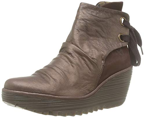 Fly London Yama, Botines para Mujer, Marrón (Dk Brown/Dk Brown 062), 37 EU