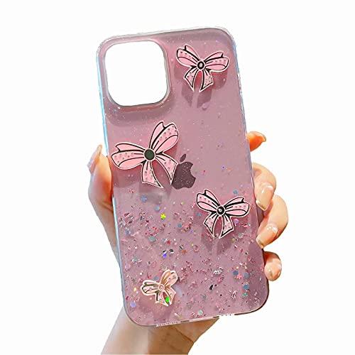 TYWZ Brillantini Glitter Cover per Samsung Galaxy S9 Plus,Flessibile Stella Crystal Custodia Ultra Sottile Silicone Gel Protettiva Bling Cassa AntiGraffio-Farfalla Rosa