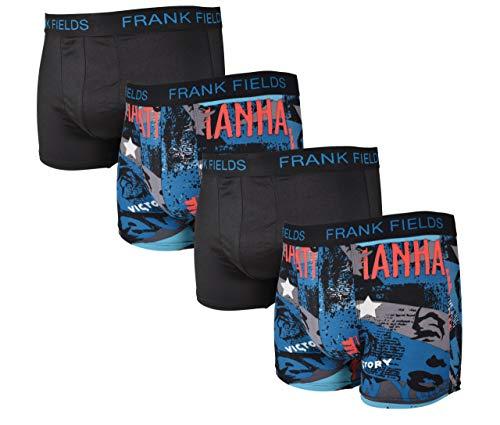Frank Fields 4 stuks nauw aansluitende retro-boxershorts van fijn micropolyester • soepel en ademend • leuke kleuren maat 5-9.