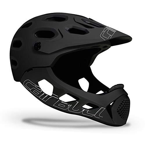 HUIGE Casco per Biciclette per Adulti con Visiera, Caschi in Bicicletta Integrale Caschi per Biciclette Regolabili Elmetti di Sicurezza Leggeri per BMX MTB Mountain Road Bike, M/L (58-62 Cm),Nero