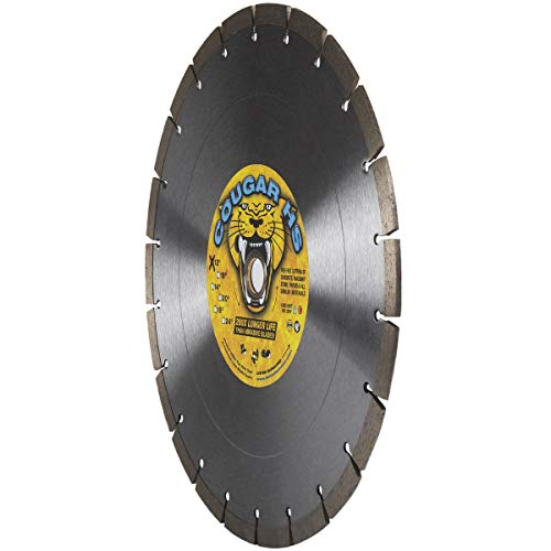 Cougar HS 12-Inch (12') X .125 X 1'-20MM Wet/Dry Diamond Blade for Concrete, Masonry, Stone, Pavers and Similar Materials