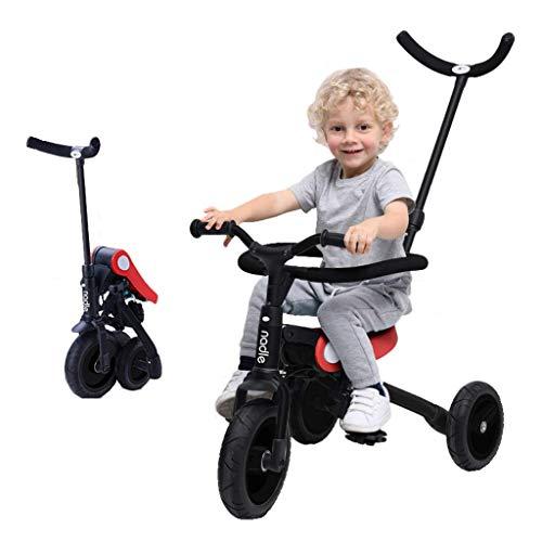 Triciclo Evolutivo Toral Triciclo para niños niños bebé pedal de 3 ruedas 3-en-1 de 3 en 1 Aprender a pedal TRIKE TRIKAJE AJUSTE AJUSTABLE PUSHABLE PUSH HABLA DE SEGURIDAD PROTECTOR ( Color : Red )