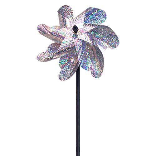 Vogelabweisende Windmühle Outdoor Garden Repeller Pin Wheels Rasen Dekor Flash Obstgarten Band Wind Rotation