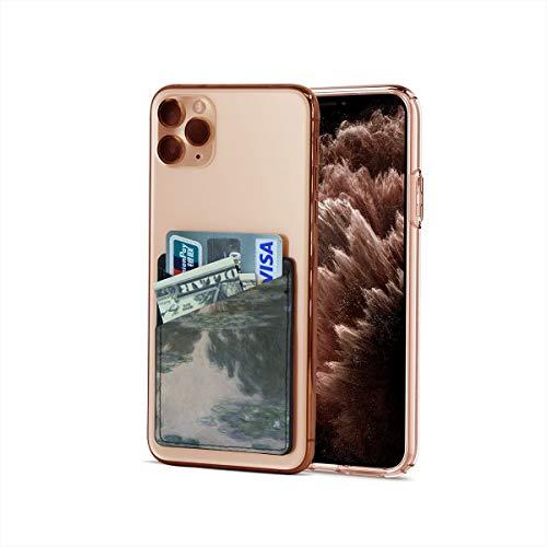 Funda para tarjetas de crédito, ultrafina Claude Monet Impresionism Water Lirios Stick On Wallet Iphone & Android Smartphone Card Case
