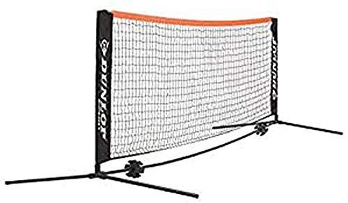 Dunlop Unisex-Adult 622541 Mini Tennis/Badminton Netz 6m, Grün, One Size