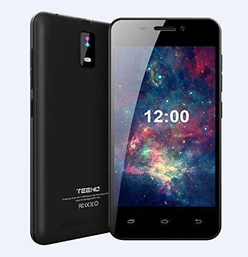 Offerte Cellulari 4.0 Pollici HD TEENO Smartphone Offerta Telefono 1GB RAM 8GB ROM Dual SIM Dual Camera Android (4.0-Nero)