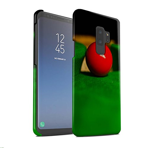 Stuff4® Matte Snap-On Hülle/Case für Samsung Galaxy S9 Plus/G965 / Blaue Kugel/Tasche Muster/Snooker Kollektion