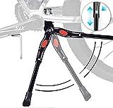JUVEL Béquille vélo Réglable - Aluminium Kickstand vélo Latérale - Bike Stand avec Pied en...