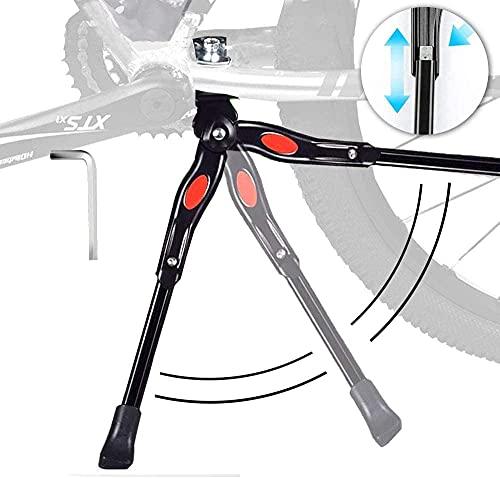 """JUVEL Cavalletto Bici - Cavalletto Bicicletta Stand Regolabile Alta qualità Alluminio Lega Cavalletto Laterale con Il Piedino di Gomma Antiscivolo 24""""-28"""" Mountain Bike, Bici da Strada, MTB Bici"""