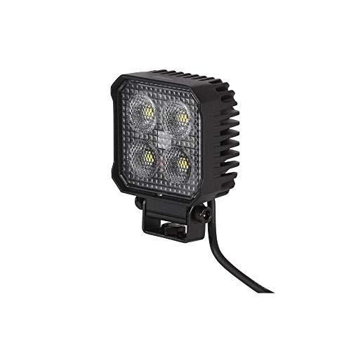 HELLA 1GA 357 110-002 LED-Arbeitsscheinwerfer - Valuefit TS1700 - 12/24V - eckig - 1700lm - Anbau/geschraubt - Nahfeldausleuchtung - Kabel: 800mm - Stecker: offene Kabelenden