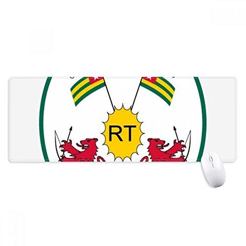 beatChong Togo Afrika National Emblem Non-Slip Mousepad Große Erweiterte Spiel Büro titched Kanten Computer-Mat Geschenk