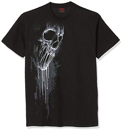 Spiral Direct Bat Curse-Front Print T-Shirt Camiseta, Negro (Black 001), 40 (Talla del Fabricante: Medium) para Mujer