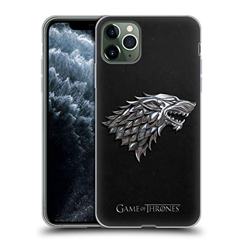 Head Case Designs Officially Licensed by HBO Game of Thrones Silver Stark Sigils Soft Gel Case Compatible with Apple iPhone 11 Pro Max