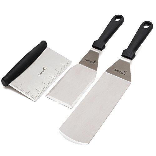 Ensemble de spatules en métal – Accessoires pour grill
