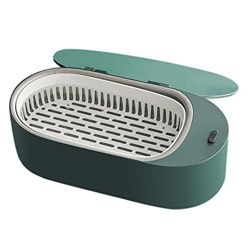 Sharplace Limpiador de Joyas, Limpiador ultrasónico Cesta de Limpieza de baño-para joyería Colgante Gafas Reloj Monedas dentadura - Verde