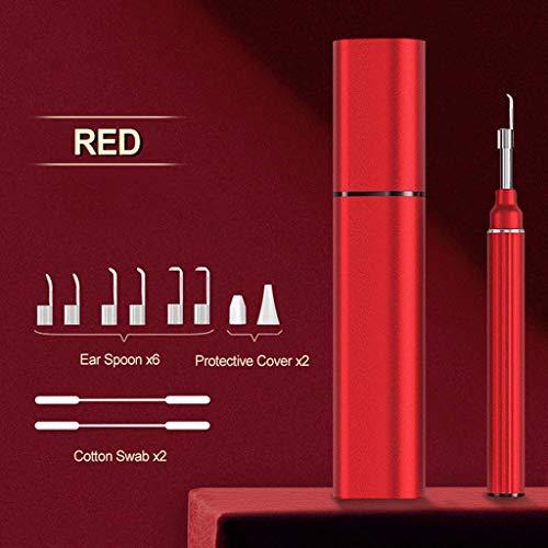 YHX 3,9 Mm WiFi-Ohr-Otoskop, Kabelloses Digitales 5,0-Megapixel-Endoskop, Ohrenschmalz-Reinigungswerkzeug Für Die Ohreninspektionskamera Mit 6 LEDs Für Ios Android,Rot