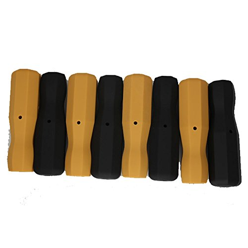 Tornado Foosball Plastic Handles-8- Black & Yellow