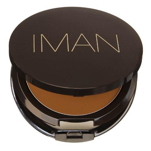 IMAN Second To None Cream To Powder Foundation, Dark Skin, Earth 1
