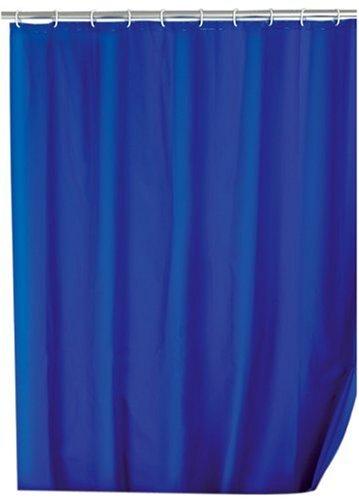 WENKO 19107100 Duschvorhang Uni Night Blue - wasserdicht, leicht zu pflegen, Kunststoff - PEVA, Dunkelblau,180x200cm