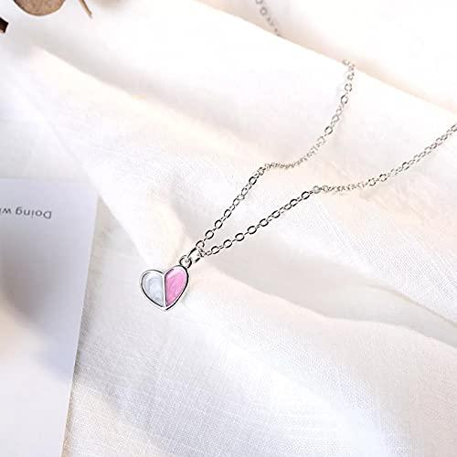 Chenfeng Collar de Mujer Collar de Mujer Collar de Cadena de corazón de Helado Collares de niña Gargantillas Regalo de Buen Amigo Regalos para Esposas Madres y Novias Regalo de cumpleaños
