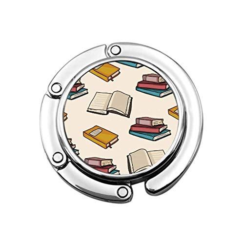 Papel Grueso para Libros, Personajes, Colgador para Bolso de Mujer, Colgador para Bolso Plegable, diseños únicos, sección Plegable, Almacenamiento, Colgador portátil para Bolso