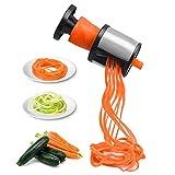 Stainless Steel Hand Held Spiralizer, Mini Vegetable Salad Slicer,Heavy Duty Veggie Spiral Cutter